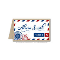 Airmail Place Cards
