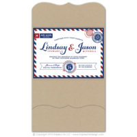 Airmail Pocket Fold Invitations