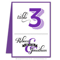 Ampersand Table Numbers