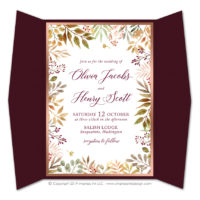 Autumn Leaves Gatefold Invitations
