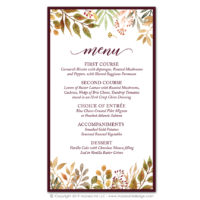 Autumn Leaves Menus