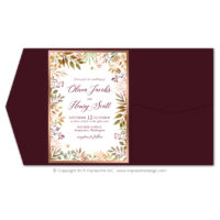 Autumn Leaves Pocket Fold Invitations