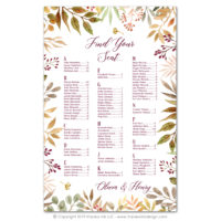 Autumn Leaves Seating Charts