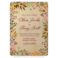Autumn Leaves Wood Cards