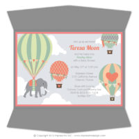 Balloons Gatefold Invitations