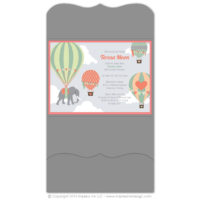 Balloons Pocket Fold Invitations