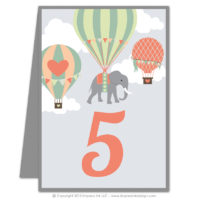 Balloons Table Numbers