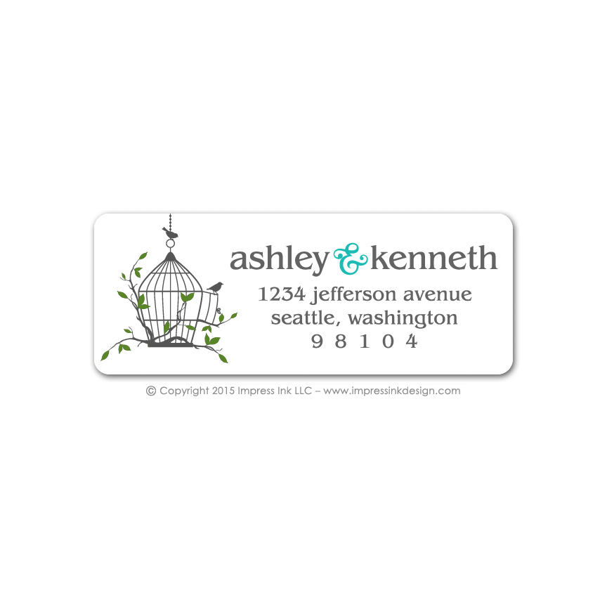 birdcage address labels impress ink stationery design studio
