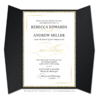 Black Tie 2 Gatefold Invitations