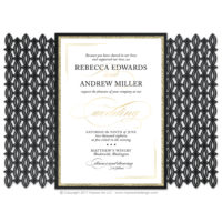 Black Tie 2 Lasercut Invitations