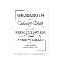 Black Tie 2 Save the Dates