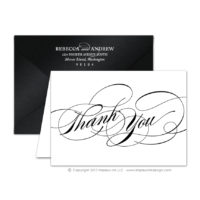 Black Tie 2 Thank You Cards