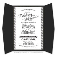 Black Tie Gatefold Invitations