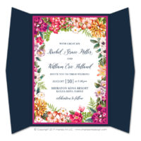 Bold Botanicals Gatefold Invitations