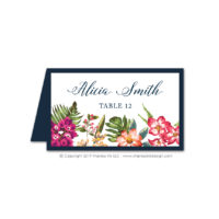 Bold Botanicals Place Cards