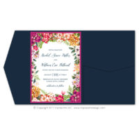 Bold Botanicals Pocket Fold Invitations
