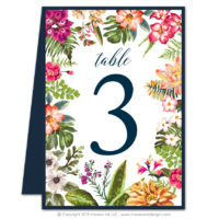 Bold Botanicals Table Numbers