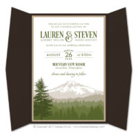 Cascade Gatefold Invitations