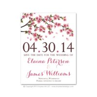 Cherry Blossoms Save-the-Dates