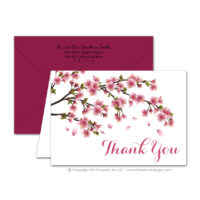 Cherry Blossoms Thank You Cards