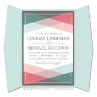 Color Block Gatefold Invitations