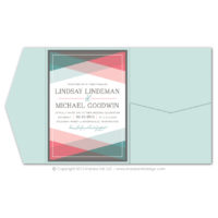 Color Block Pocket Fold Invitations