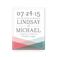Color Block Save the Dates