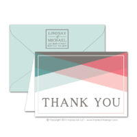 Color Block Thank You Cards