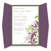 Corner Flourish Gatefold Invitations