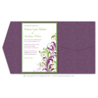 Corner Flourish Pocket Fold Invitations