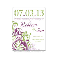 Corner Flourish Save the Dates
