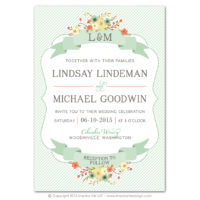 Country Chic Flat Invitations