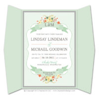Country Chic Gatefold Invitations