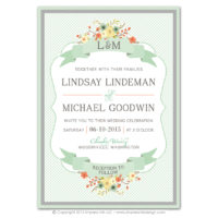 Country Chic Layered Invitations