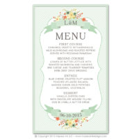Country Chic Menus