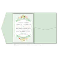 Country Chic Pocket Fold Invitations