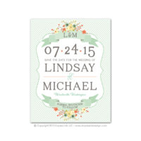Country Chic Save the Dates