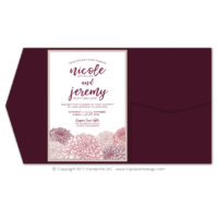 Dahlias Pocket Fold Invitations