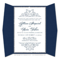 Damask Gatefold Invitations