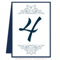 Damask Table Numbers