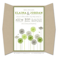 Dandelions Gatefold Invitations