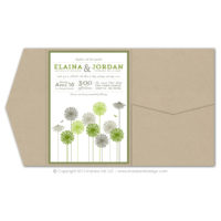 Dandelions Pocket Fold Invitations