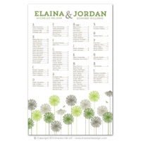 Dandelions Seating Charts