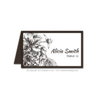 Etched Botanicals Place Cards