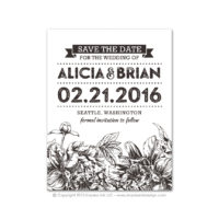 Etched Botanicals Save the Dates