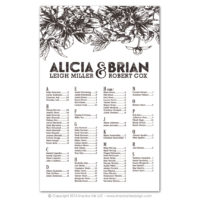 Etched Botanicals Seating Charts