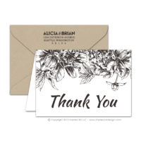 Etched Botanicals Thank You Cards