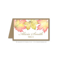 Fall Foliage Place Cards
