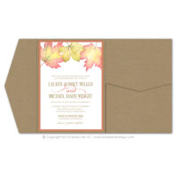 Fall Foliage Pocket Fold Invitations