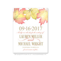 Fall Foliage Save the Dates